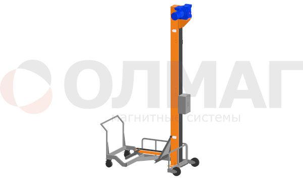 Столбовой(мачтовый) подъёмник-опрокидыватель для чан-тележек